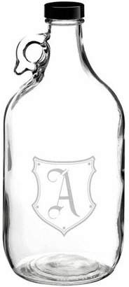 Lillian Rose Clear Glass Growler Monogram