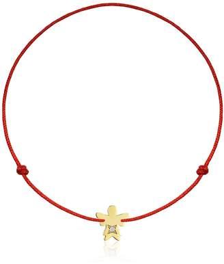 Malvensky Gold Baby Angel Bracelet W/ Diamond