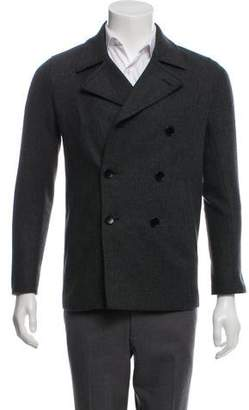 Theory Virgin Wool Double-Breasted Peacoat