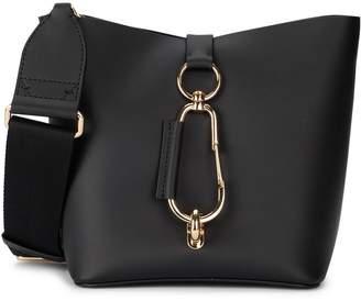Zac Posen Belay Small Black Leather Bucket Bag