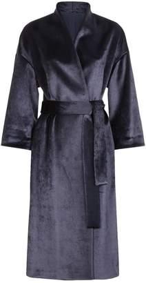 Brunello Cucinelli Longline Velvet Wrap Coat