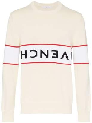 Givenchy upside logo band cotton jumper