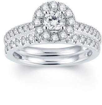 MODERN BRIDE Modern Bride Signature 1 CT T.W. Diamond Halo14K White Gold Engagement Ring