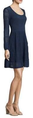 M Missoni Textured Long-Sleeve Dress