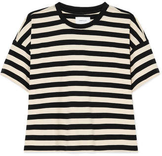 Current/Elliott The Roadie Striped Cotton-jersey T-shirt - Black