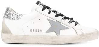 Golden Goose Superstar glittered-star sneakers