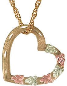 Black Hills Floating Heart Pendant w/ Chain, 10K/12K Gold