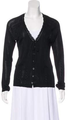 Dolce & Gabbana Open Knit V-Neck Cardigan