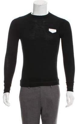 Givenchy Leather-Accented Wool Sweater