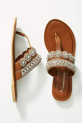 Anthropologie Cressida Embellished Sandals