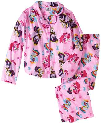 My Little Pony Walmart Girls Button Down Top and Bottom Pajama 2pc Set