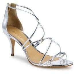 Schutz Tori Ann Strappy Metallic Sandals