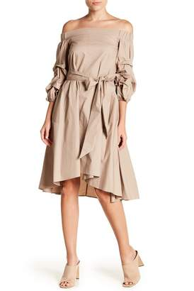 Gracia Off Shoulder Ruffle Sleeve Dress