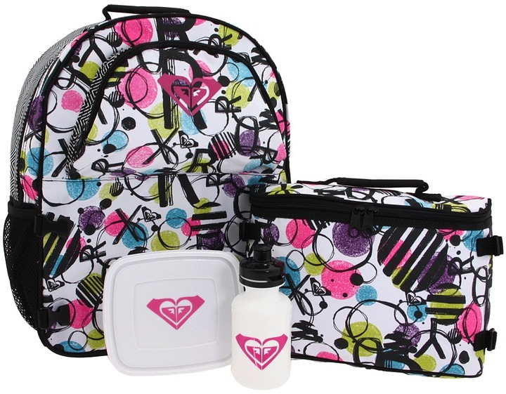 Roxy Bunny Backpack (Black/White) - Bags and Luggage