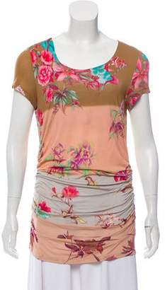 Etro Printed Ruched Top