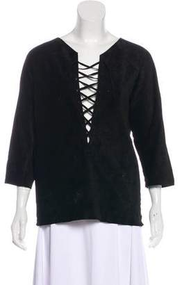 Isabel Marant Leather Tunic Top