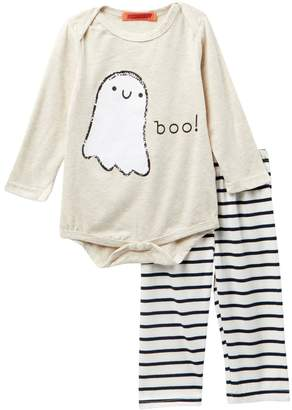 Funkyberry Ghost Bodysuit & Striped Leggings Set (Baby Girls)