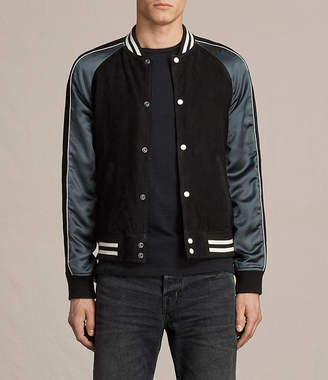 AllSaints Epton Suede Bomber Jacket