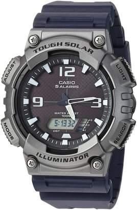 Casio Men's 'Tough Solar' Quartz Resin Casual Watch, Color: Black (Model: AQS810W-1A4V)