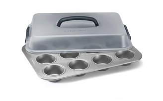 Calphalon Gourmet Hard-Anodized Nonstick 12-CupCovered Cupcake Pan