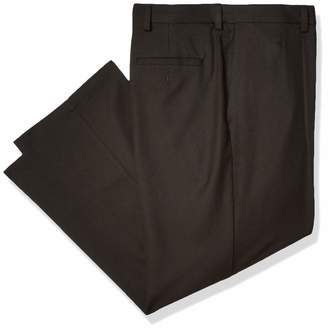 Haggar Men's Cool 18 Pro Classic Fit Flat Front Expandable Waist Pant