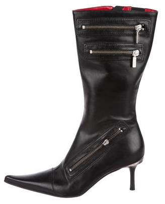 Luciano Padovan Leather Knee-High Boots