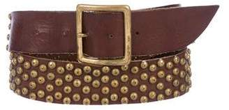 Calleen Cordero Studded Leather Belt