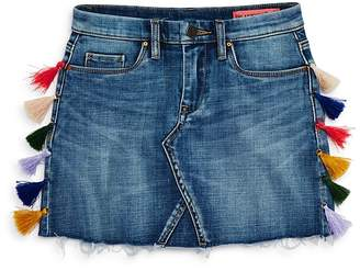 Blank NYC BLANKNYC Girls' Tasseled Denim Skirt, Big Kid - 100% Exclusive