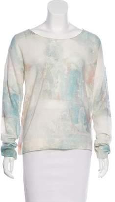 White + Warren Cashmere Printed Sweater