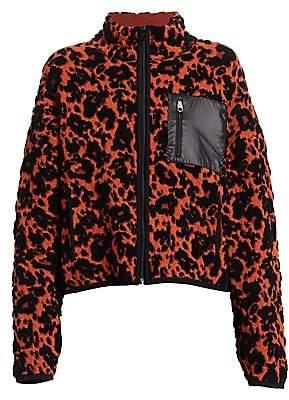 Proenza Schouler White Label Women's Cropped Leopard Print Jacket