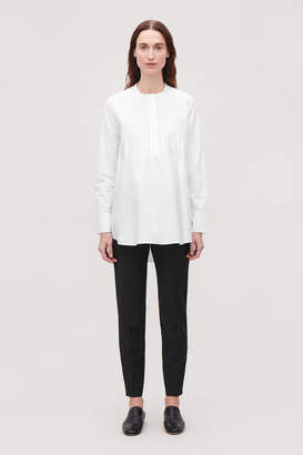 Cos LONG PLEATED-FRONT SHIRT