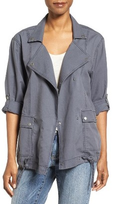 Petite Women's Caslon Roll Sleeve Utility Jacket $79 thestylecure.com