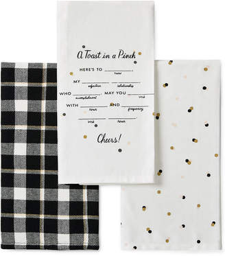 Kate Spade 3-Pc. Toast In A Pinch Kitchen Towel Set