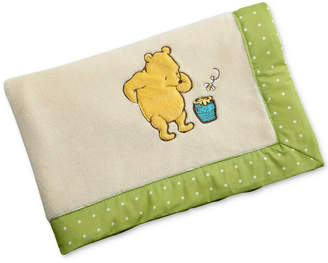 Disney Winne-the-Pooh My Friend Pooh Embroidered Applique French Terry Blanket Bedding