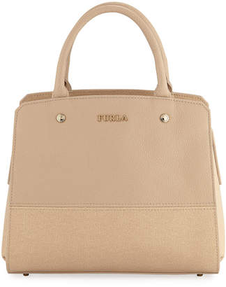 Furla Rachele Medium Pebble/Saffiano Leather Satchel Bag
