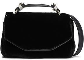 Maje Dance Leather-Trimmed Faux Fur Shoulder Bag