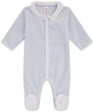 Petit Bateau Velour Star All-In-One