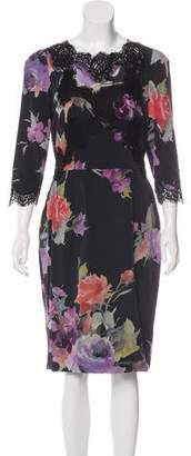 Dolce & Gabbana Floral Print Knee-Length Dress