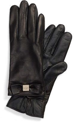 Women's Kate Spade New York 'Bow Logo' Gloves $128 thestylecure.com