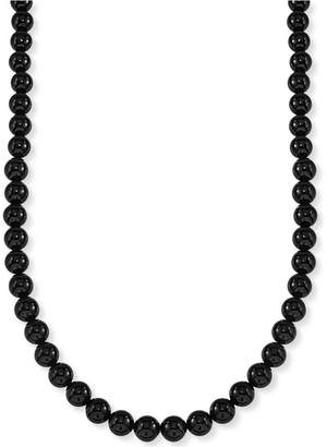 "Esquire Men's Jewelry Onyx (8mm) 30"" Necklace (Also Available in Tiger's Eye)"
