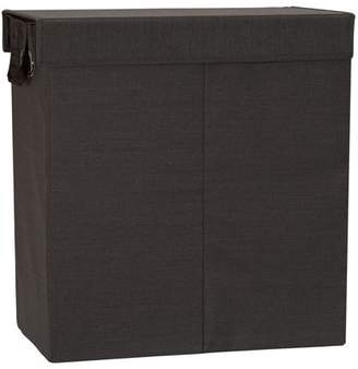 Household Essentials Collapsible Double Laundry Hamper Sorter, Cobblestone