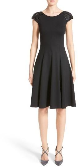 Women's Armani Collezioni Embellished Milano Jersey Dress