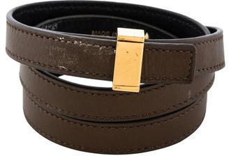 CelineCéline Leather Wrap Bracelet