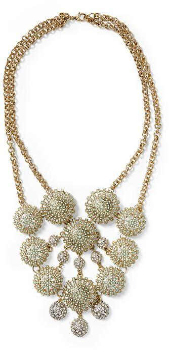 BCBGMAXAZRIA Pim + Larkin Multi Disc Statement Necklace