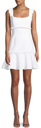 Cinq à Sept Ana Sleeveless Ruffle Mini Dress