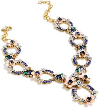 J.Crew Crystal & Flower Statement Necklace