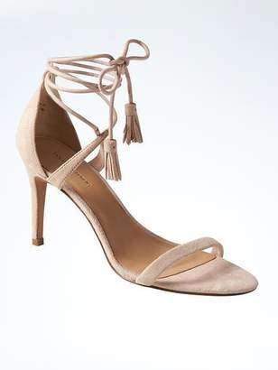 Ankle Wrap Bare High Heel Sandal $128 thestylecure.com