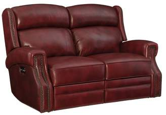 Hooker Furniture MS 165 Red Power Motion Loveseat With Power Headrest