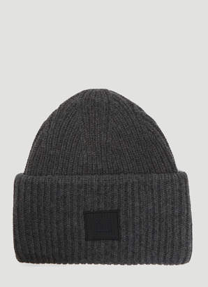 30a6571b6a98fa Acne Studios Pansy N Face Knit Hat in Grey