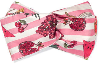 Silken Favours - Nature's Candy Printed Silk-twill Headband - Pink